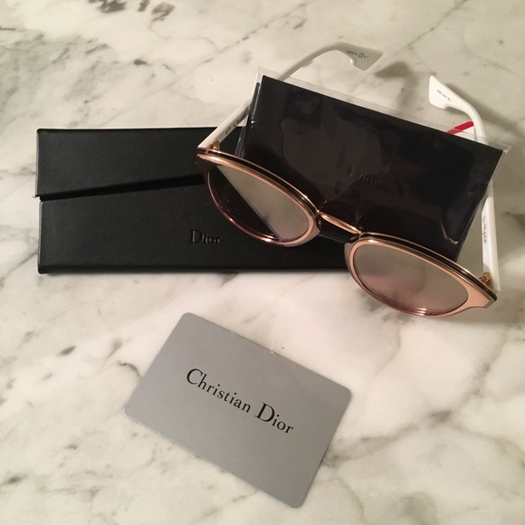 2be2c66bf Dior Accessories | Nightfall Rosegold And White Sunglasses | Poshmark